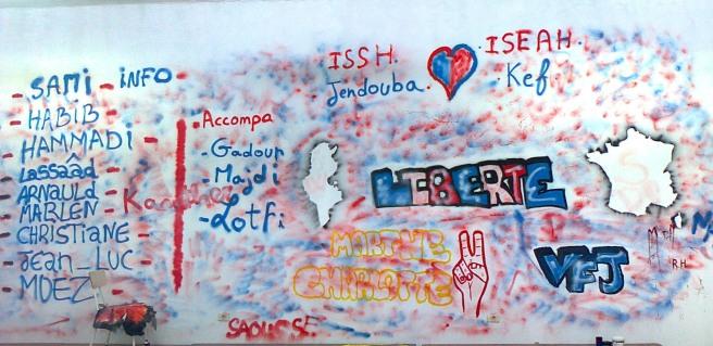 Fresque réalisée par les étudiants du Village francophone junior