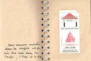Séjour à Florence, 1999… La malle est en désordre !